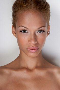 Anissa Von Busse - Black Models from France Ebony Picture Galleries: Anissa-Von-Busse Pretty Black Girls, Beautiful Black Women, Simply Beautiful, Beautiful People, Nude Makeup, Black Makeup, Skin Makeup, Lite Brite, Skinny Face