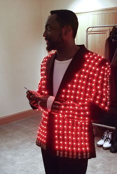 Will.I.Am in tailored LED video jacket