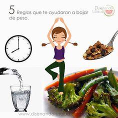 Diseñando tu Salud : 5 Reglas que te ayudaran a bajar de peso.