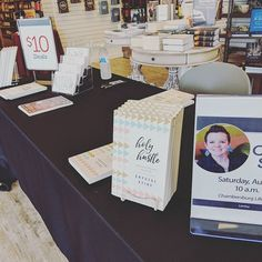 Already and the MOST fun chat with a few ladies - come to @lifeway in Chambersburg and say hi! #holyhustlebook