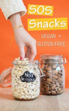 SOS snacks : 10 idées d'encas healthy (vegan et gluten-free) à garder sur un coin de son bureau et à picorer dans la matinée ou à l'heure du goûter !