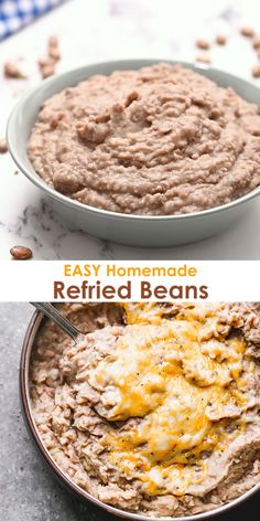 You cant beat the simplicity and taste of Homemade Refried Beans made with just five-ingredients! I love how easy this recipe and knowing my family is getting a healthier version made with real ingredients. Mexican Refried Beans, Homemade Refried Beans, Refried Beans Recipe Easy, Red Beans Recipe, Mexican Cooking, Mexican Food Recipes, Easy Eat, Food Stamps, Kitchen
