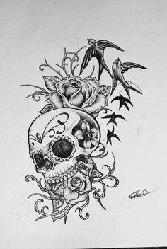 https://www.google.ca/search?q=sugar skull butterfly tattoo image
