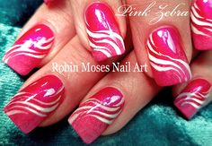 Robin Moses Nail Art: White Zebra Print on Pink Polish with Light Pink Gradient… Zebra Nail Art Diy Zebra Nails, Zebra Nail Designs, Zebra Nail Art, Zebra Print Nails, Gradient Nail Design, New Nail Designs, Architecture Design, Daisy Nails, Pink Nails