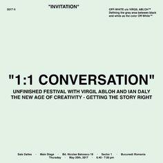 """Off White """"1:1 Conversation"""""""