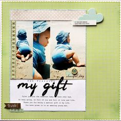 My Gift - by Jamie Harper using Dear Lizzy Neapolitan from American Crafts.