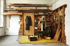 Found Wood Installations, Ethan Hayes-Chute, found materials, recycled materials, eco art, wood shacks, art