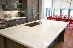 Calacatta Quartz does a beautiful job of embracing the look of natural Calacatta marble. Description from velletristonecenter.com. I searched for this on bing.com/images