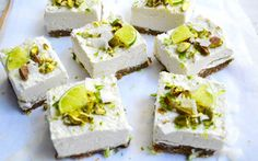 Raw Pistachio, Coconut, and Lime Cheesecakes  #justeatrealfood #onegreenplanet