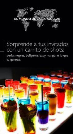 #IdeasParaTuBoda   #CarritoDeShots