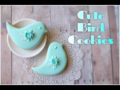 How to decorate bird cookies.My little bakery. - YouTube