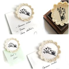 Crochet Wedding Favors Magnets Owls, could put picture instead