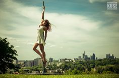 Street Poledance Shooting in Frankfurt