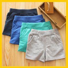 外贸童装裤子 婴幼儿夏季短裤 透气吸汗五分裤男女宝宝外出短裤