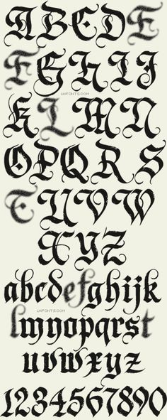 Letterhead Fonts / Dark Horse / Gothic Fonts