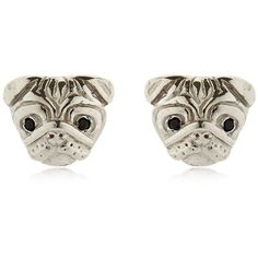 Mg Trends Women Silver & Crystal Pug Earrings ($155) ❤ liked on Polyvore featuring jewelry, earrings, silver, crystal jewellery, earring jewelry, crystal jewelry, crystal earrings and silver jewellery