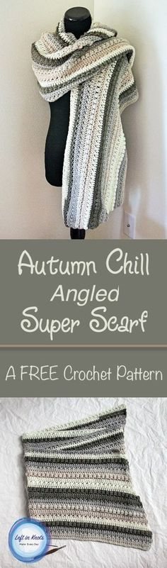 A FREE crochet pattern. Perfectly cozy and made with Caron Cakes yarn, this super scarf will keep you warm with the dropping fall temperatures.