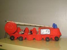 Camion de pompier - Ecole du Sacré Coeur MOUCHIN Preschool Projects, Crafts For Kids, Maxime, Cardboard Boxes, Toys, Automobile, Stage, Construction, Fire