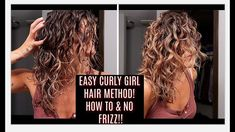 EASY CURLY GIRL METHOD | HOW TO | BEGINNERS |
