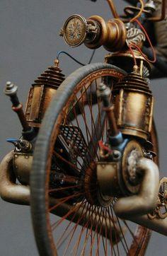 "doyoulikevintage: "" Steampunk bike """