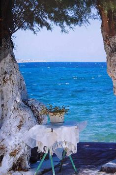 ❥ Blue Sea, Isle of Crete, Greece