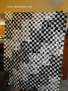 B/W Postage Stamp Quilt, Alt View by dmdezigns, via Flickr