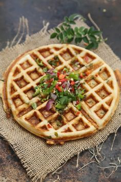 Savory Waffle Dosa- Indian Fusion Food, Try it you will Love it. #Food #Indian #Fusion