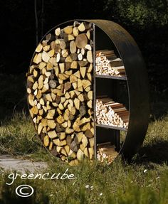 greencube garden and landscape design, UK: Sculptural Log Store or Bug Hotel ? Bug Hotel, Insect Hotel, Fire Pit Furniture, Outdoor Garden Furniture, Landscape Design, Garden Design, Garden Power Tools, Log Store, Firewood Storage