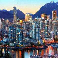 Vancouver BC Canada Skyline