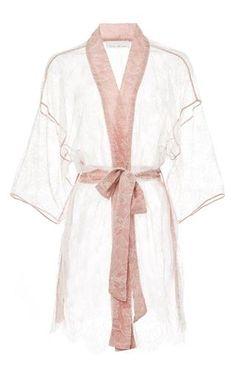Lace kimono by FLEUR DU MAL Preorder Now on Moda Operandi