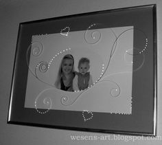 . . . Wesens-Art: Rahmen mit Quilling / Frame with quilling