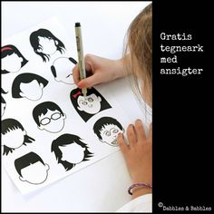 Print faces - let the kids draw expressions on them. Good for working with emotions!