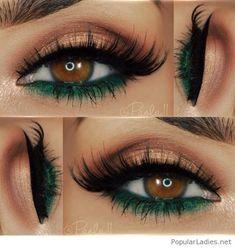 Makeup eyeshadow brown eyes