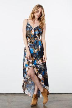 Floral Printed Maxi Wrap Dress
