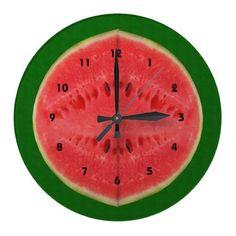 Kitchen Watermelon Sweet Fruit Clocks