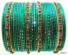 blue Indian bangles
