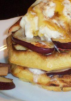 Kids will love waking up to this Cinnamon Apple Toast, made with Eggo waffles! Recipe courtesy of Britt Marshall.