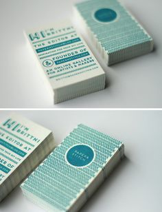 Double-sided letterpress business cards Designed and printed by 42 Pressed
