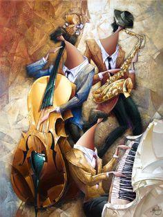 Jazz Art, Jazz Music, Arte Jazz, Jazz Painting, Music Drawings, Black Artwork, Afro Art, Black Women Art, African American Art