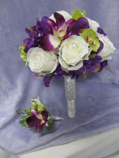 Silk flowers with bling!