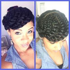 Eye Catching Updos for Black Women | cute twists updo