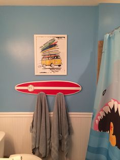 Kids Beach Bathroom Surf Board Surf Theme