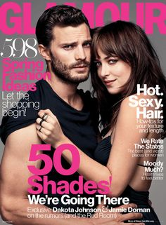 Fifty Shades of Grey stars Dakota Johnson and Jamie Dornan on the March 2015 cover of Glamour Dakota Johnson, Jamie Dornan, Shades Of Grey Film, Fifty Shades Darker, Mr Grey, Christian Grey, Interview, Fifty Shades Trilogy, Glamour Magazine
