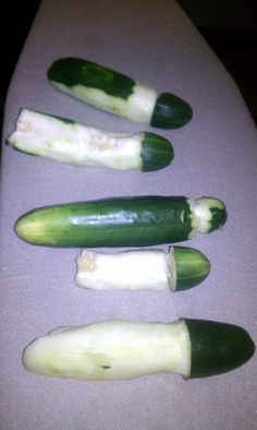 sculpt the cucumber into a penis - bachelorette party game @Kayla Barkett Garst
