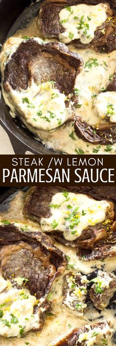 Juicy, tender steak with a rich, creamy and cheesy luxurious lemon Parmesan cream sauce! An easy and quick dinner! (how to cook lamb chops in oven)