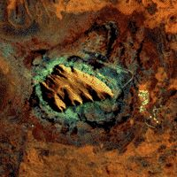 Satellite image of Uluru in Central Australia's outback Country Life, Australia, Rock, Painting, Image, Country Living, Painting Art, Locks, Paintings