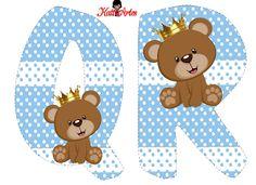 Prince Bear Alphabet. Alfabeto de Osito Príncipe.