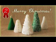 クリスマスツリーの簡単な作り方・編み方(2) 作り方詳細 diy christmas tree tutorial - YouTube