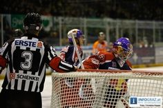 Eishockeyspiel Moser Medical Graz99ers gegen EC RedBull Salzburg in Graz Liebenau.