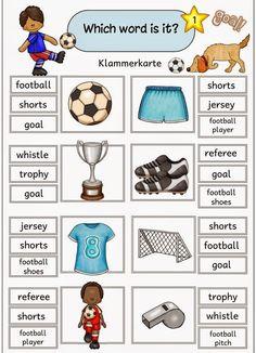 """Ideenreise: Fußball Klammerkarten zum Thema """"football"""""""